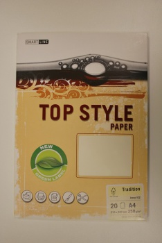Top style Tradition, slonová kost, 220 g/m2, A4