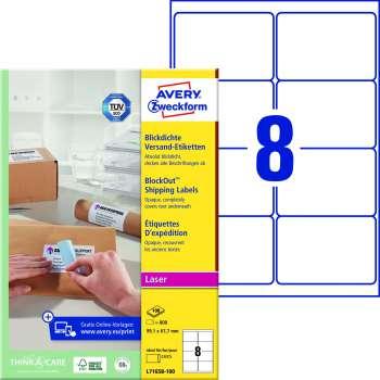 Samolepicí adresní krycí etikety Avery Zweckform - 99,1 x 67,7 mm, 800 ks
