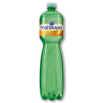 Poděbradka ochucená minerální voda - Pomeranč, 6 x 1,5 l