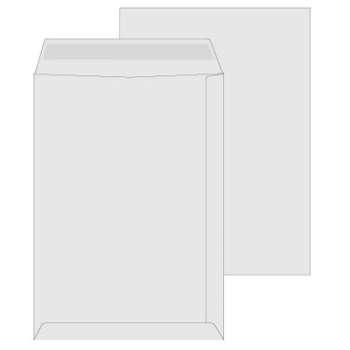 Obchodní tašky Office Depot - C4, samolepicí, bílé, 25 ks