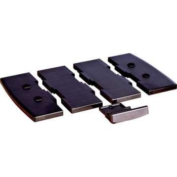 Držák telefonu - vložená deska, černá, šíře 8,5 cm