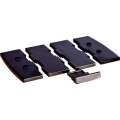 Držák telefonu - vložená deska, černý, šíře 8,5 cm