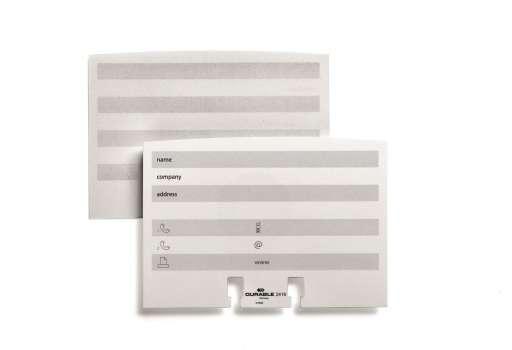Karty náhradní pro vizitkář Durable Visifix, 100 ks