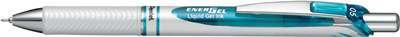 Gelový roller Pentel Energel Pearl - bílý, modrá náplň, 0,5 mm