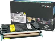 Tonerová kazeta Lexmark C5220YS, žlutá
