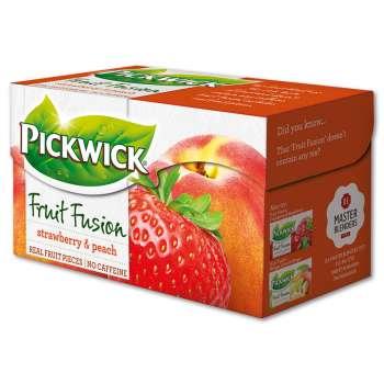 Ovocný čaj Pickwick broskev s jahodou, 20x 2 g