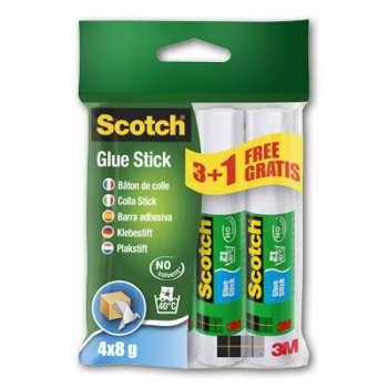 Lepidlo na papír Scotch Classic - 8 g,  3 + 1 zdarma