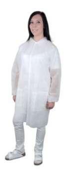 Dámský ochranný plášť - plastový, velikost L, bílá