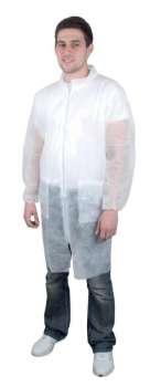 Pánský ochranný plášť - plastový, velikost L, bílý