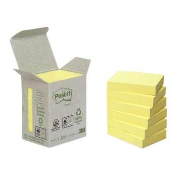 Bločky recyklované Post-it 38x51 mm, žluté