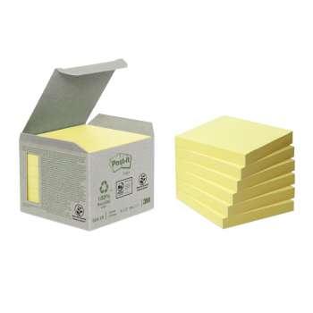 Bločky recyklované Post-it 76x76 mm, žluté