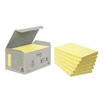 Bločky recyklované Post-it 127x76 mm, žluté