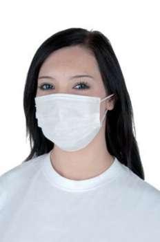 Ochranná rouška - plastová, jednorázová, bílá, 50 ks