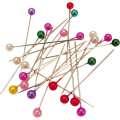 Špendlíky s kulatou barevnou hlavičkou, 100 ks