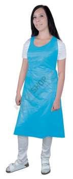 Ochranná zástěra - plastová, jednorázová, modrá, 100 ks