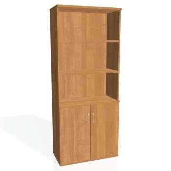 Policová skříň Strong s nikou, plné dveře