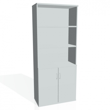 Skříň Hobis STRONG S 5 80 03, šedá/šedá