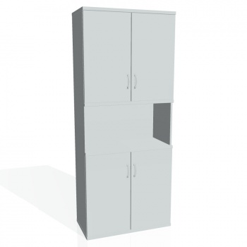 Skříň Hobis STRONG S 5 80 05, šedá/šedá