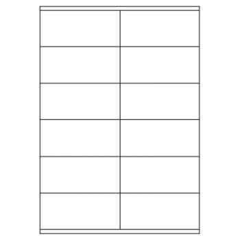 Samolepicí etikety - 96,5 x 42,3 mm