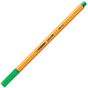 Liner Stabilo point 88 - zelená , 10 ks