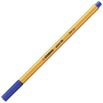 Liner Stabilo point 88 - modrá, 10 ks
