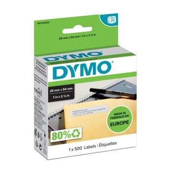 Štítky pro LabelWriter Dymo 54 x 25 mm, univerzální, bílá, 500 ks