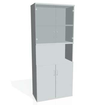 Skříň Hobis STRONG S 5 80 10, šedá/šedá