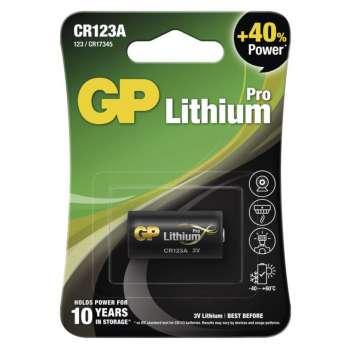 Baterie GP CR123A, 3 V /1400 mAh, 1 ks