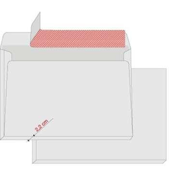 Obálky Elco C4+ s rozšířeným dnem - samolepicí s krycí páskou, 200 ks