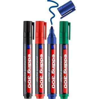Popisovač permanentní Edding 300 - sada 4 barev
