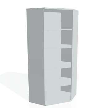 Skříň Hobis STRONG SRV 5, šedá