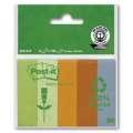 Značkovací lístečky Post-it Eco - recyklované, 5 barev, 5 x 100 ks