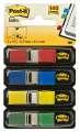 Záložky Post-it v zásobníku, 11,9 x 43,2 mm, 4 barvy