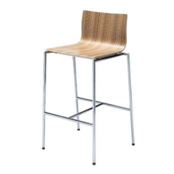 Barová židle Sensi K1CH Chrome - světlé zebrano