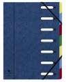 Kniha třídicí A4 Exacopmta 7 přihrádek, modrá