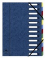 Kniha třídicí  A4  Exacopmta 12 přihrádek, modrá