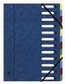 Kniha třídicí Exacompta - A4, 12 přihrádek, modrá