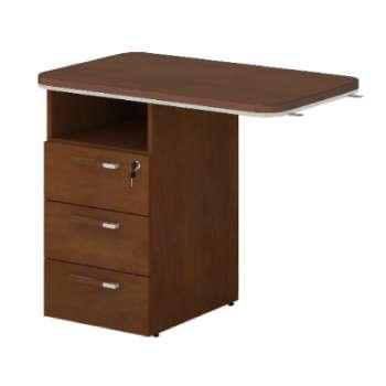 Přídavný stůl s kontejnerem Lenza WELS 900 levý, ořech
