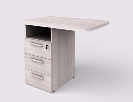 Přídavný stůl s kontejnerem Lenza WELS 900 levý, světlý akát