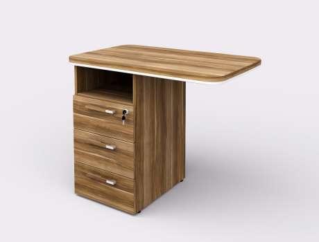 Přídavný stůl s kontejnerem Lenza WELS 900 levý, merano