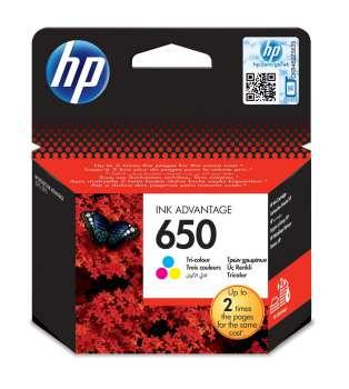 Cartridge HP CZ102AE/650 - tříbarevná