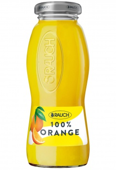 Džus Rauch ve skle  -  pomeranč s dužinou, 24x 0,2 l