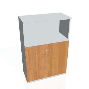 Policová skříňka Strong  s nikou, plné dveře