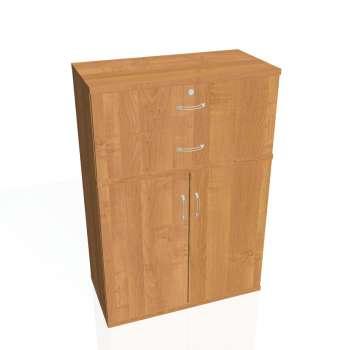 Skříňka policová Strong, plné dveře, zásuvky