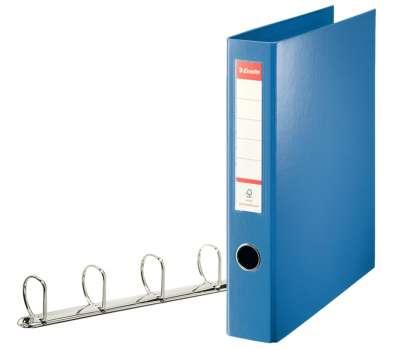 Plastový pořadač čtyřkroužkový Esselte 5,8 cm modrá