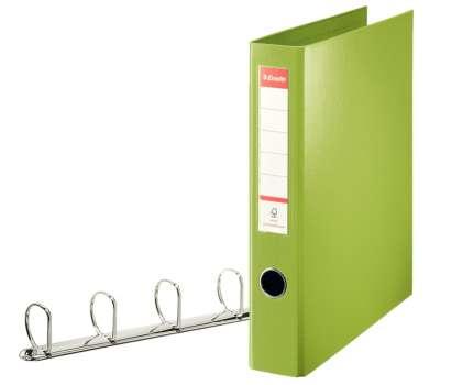 Plastový pořadač čtyřkroužkový Esselte 5,8 cm zelená