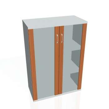 Skříň Hobis STRONG S 3 80 04, třešeň/šedá