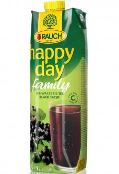 Džus HAPPY DAY - černý rybíz, 1 l