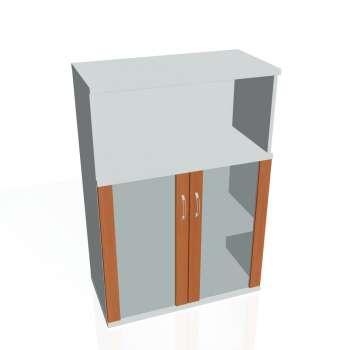 Policová skříňka Strong  s nikou, prosklené dveře
