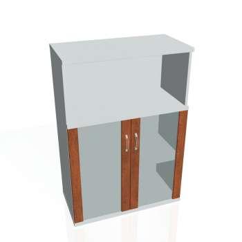 Skříňka policová Strong s nikou, prosklené dveře